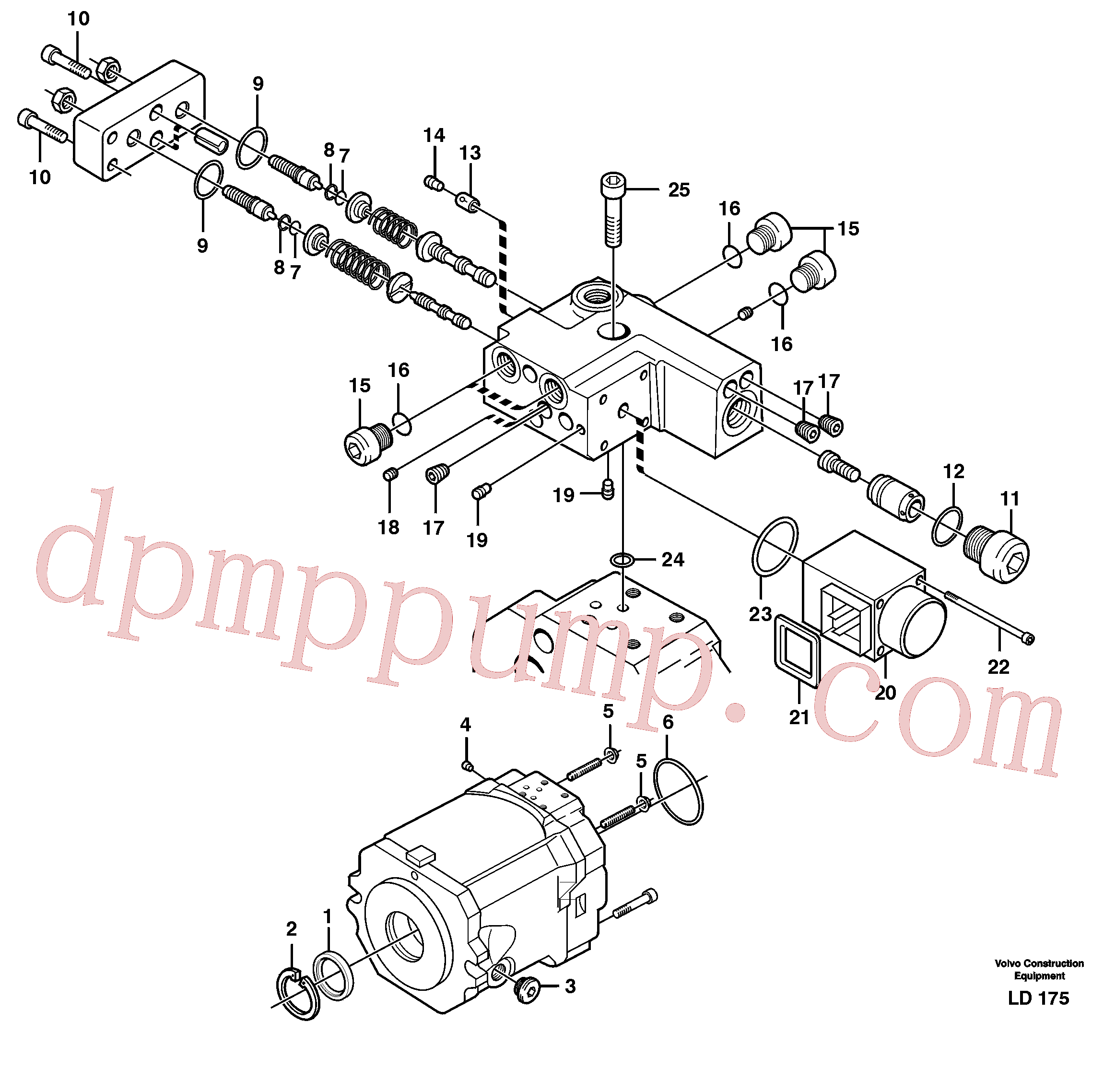 VOE11705607 for Volvo Hydraulic pump(LD175 assembly)