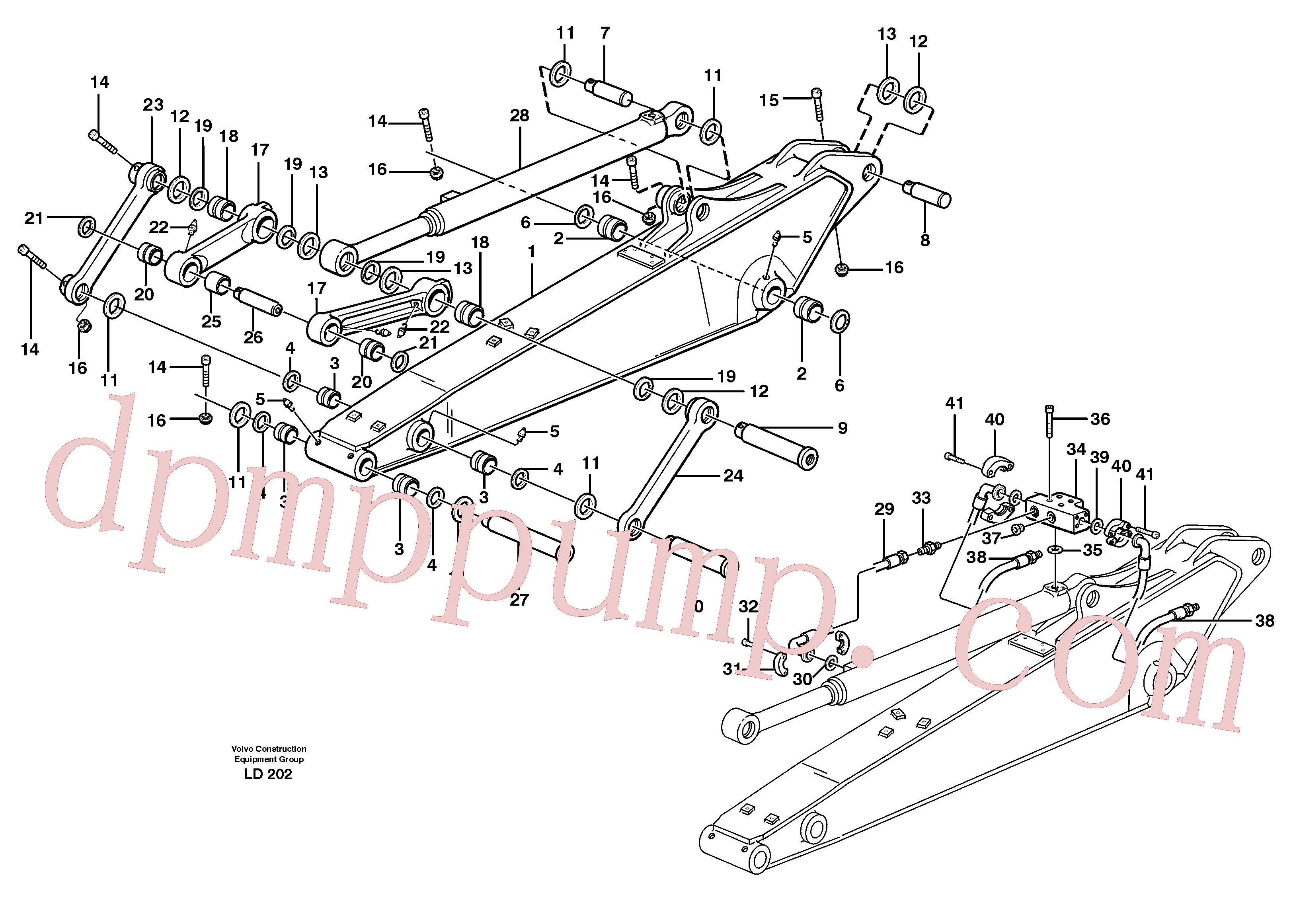 VOE14373277 for Volvo Dipper arm incl. connect.(LD202 assembly)
