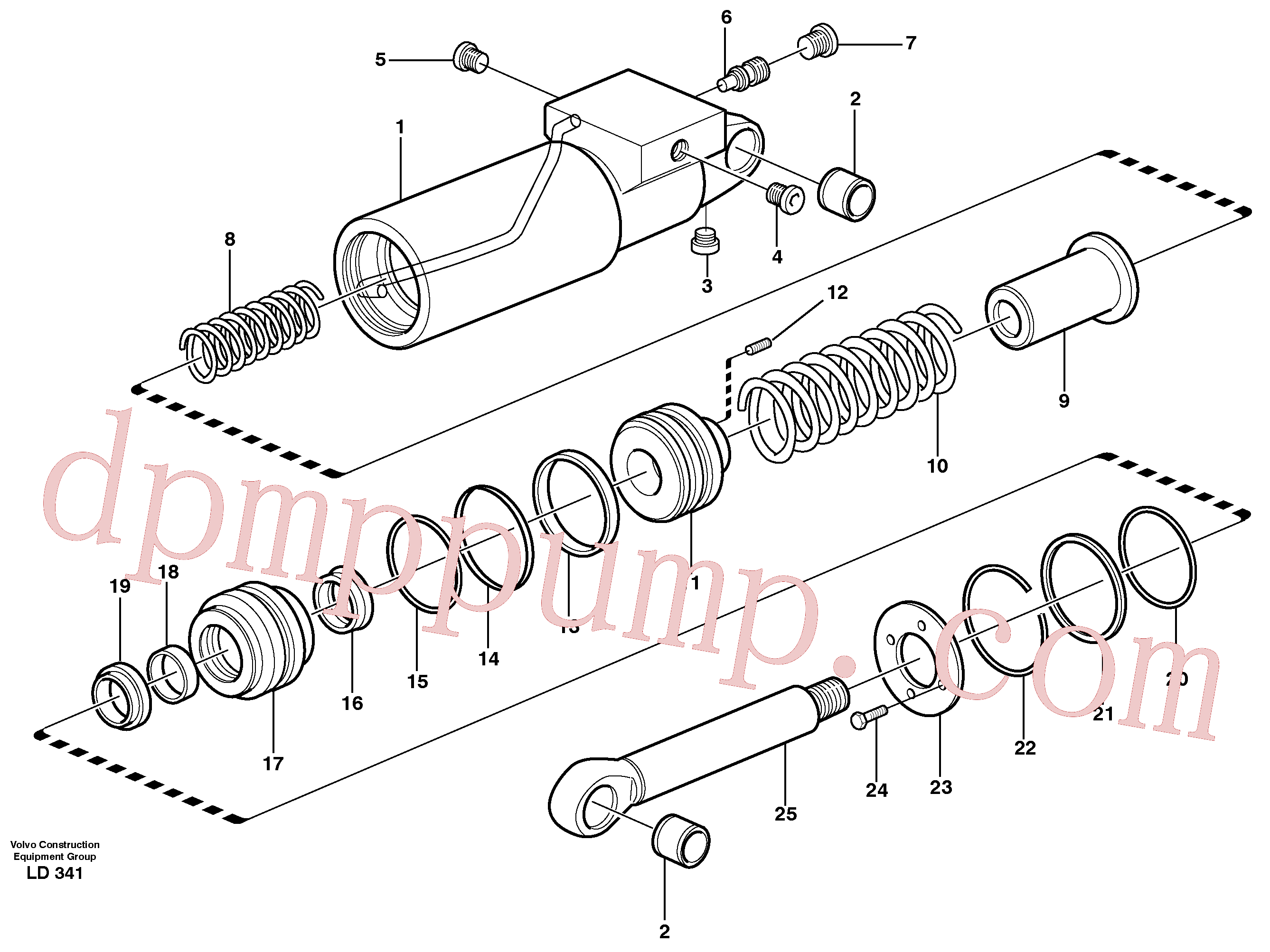 VOE11702311 for Volvo Hydraulic cylinder(LD341 assembly)