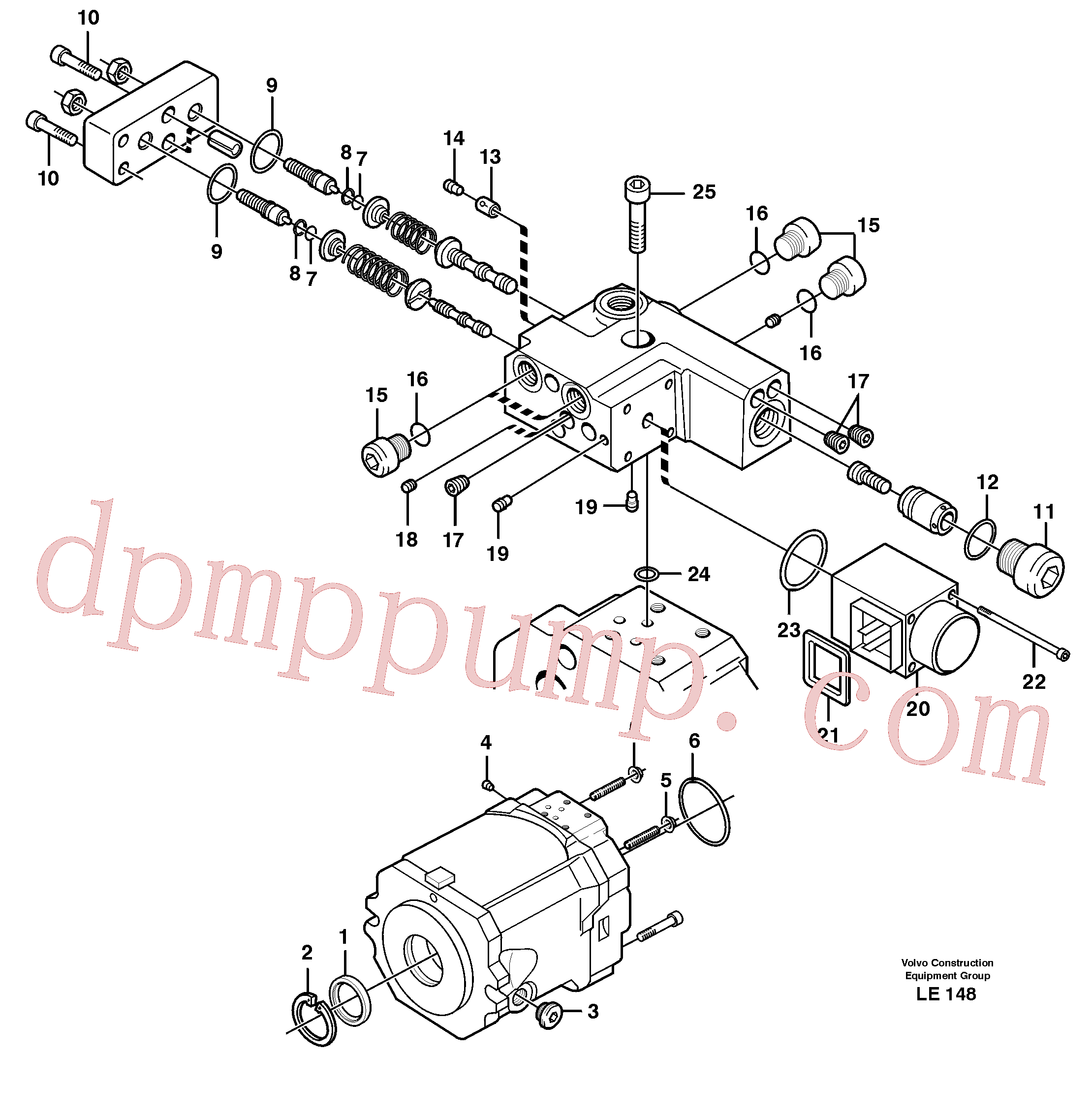 VOE11705607 for Volvo Hydraulic pump(LE148 assembly)