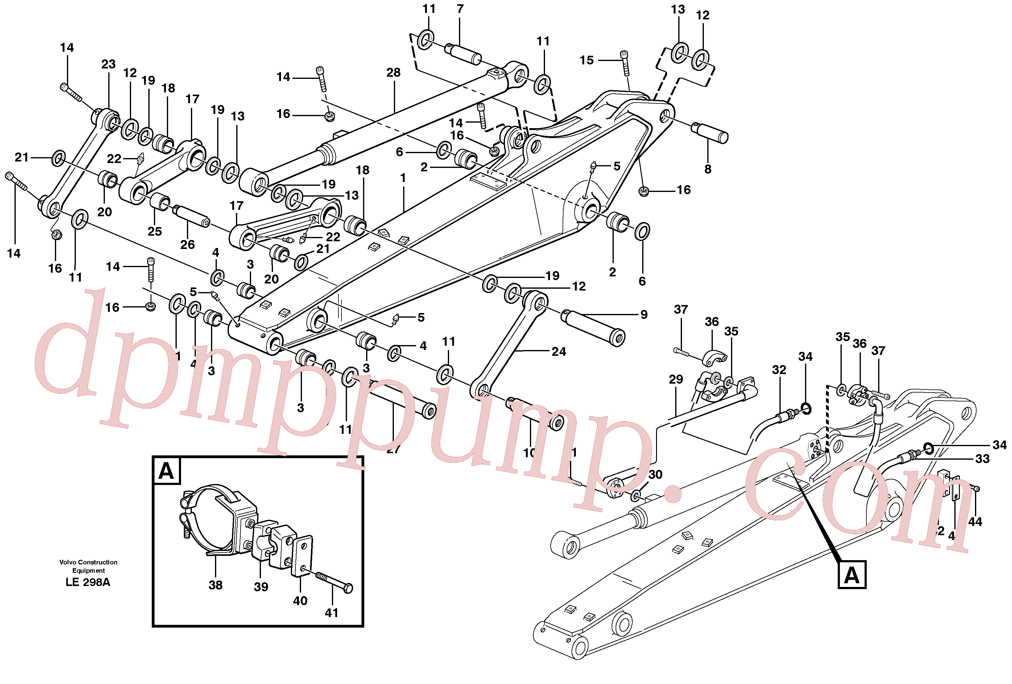 VOE14373277 for Volvo Dipper arm incl. connect.(LE298A assembly)