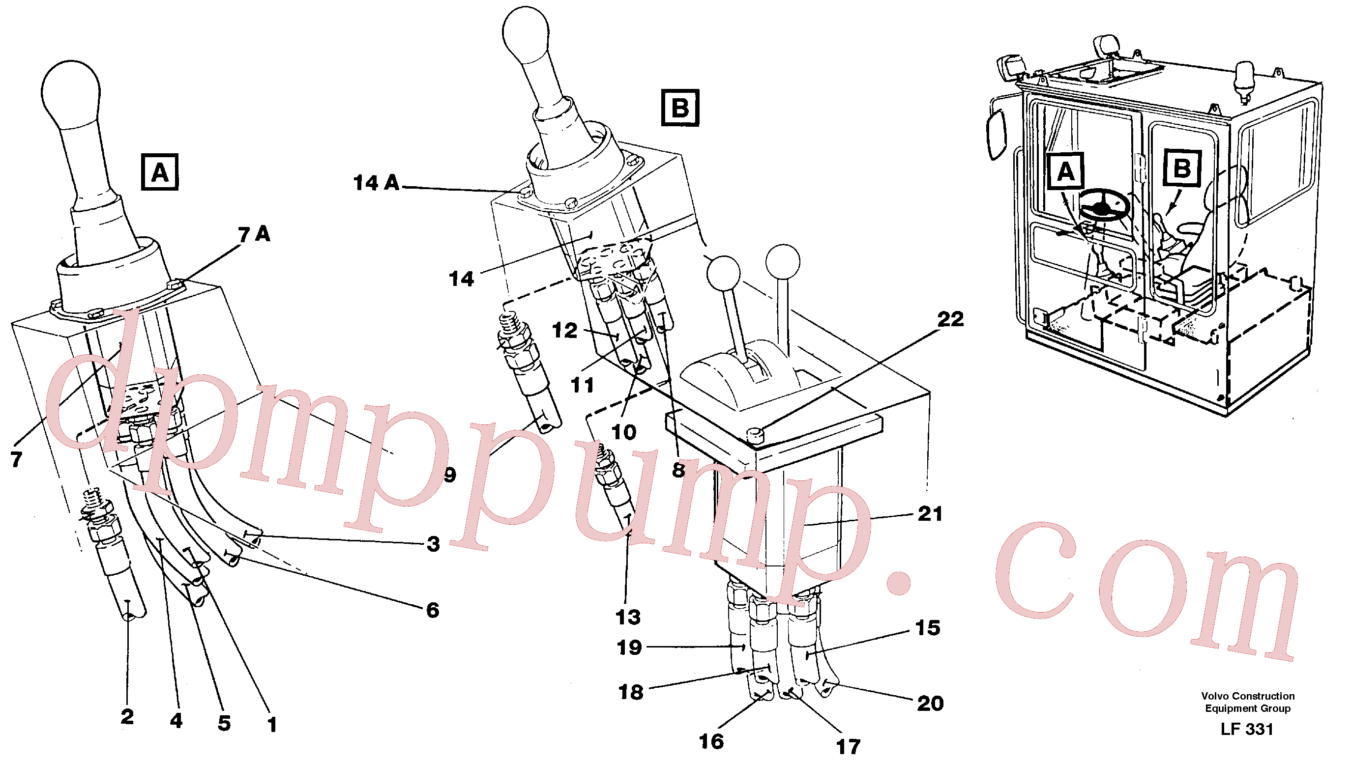 VOE14213132 for Volvo Joy Stick Left and Right(LF331 assembly)