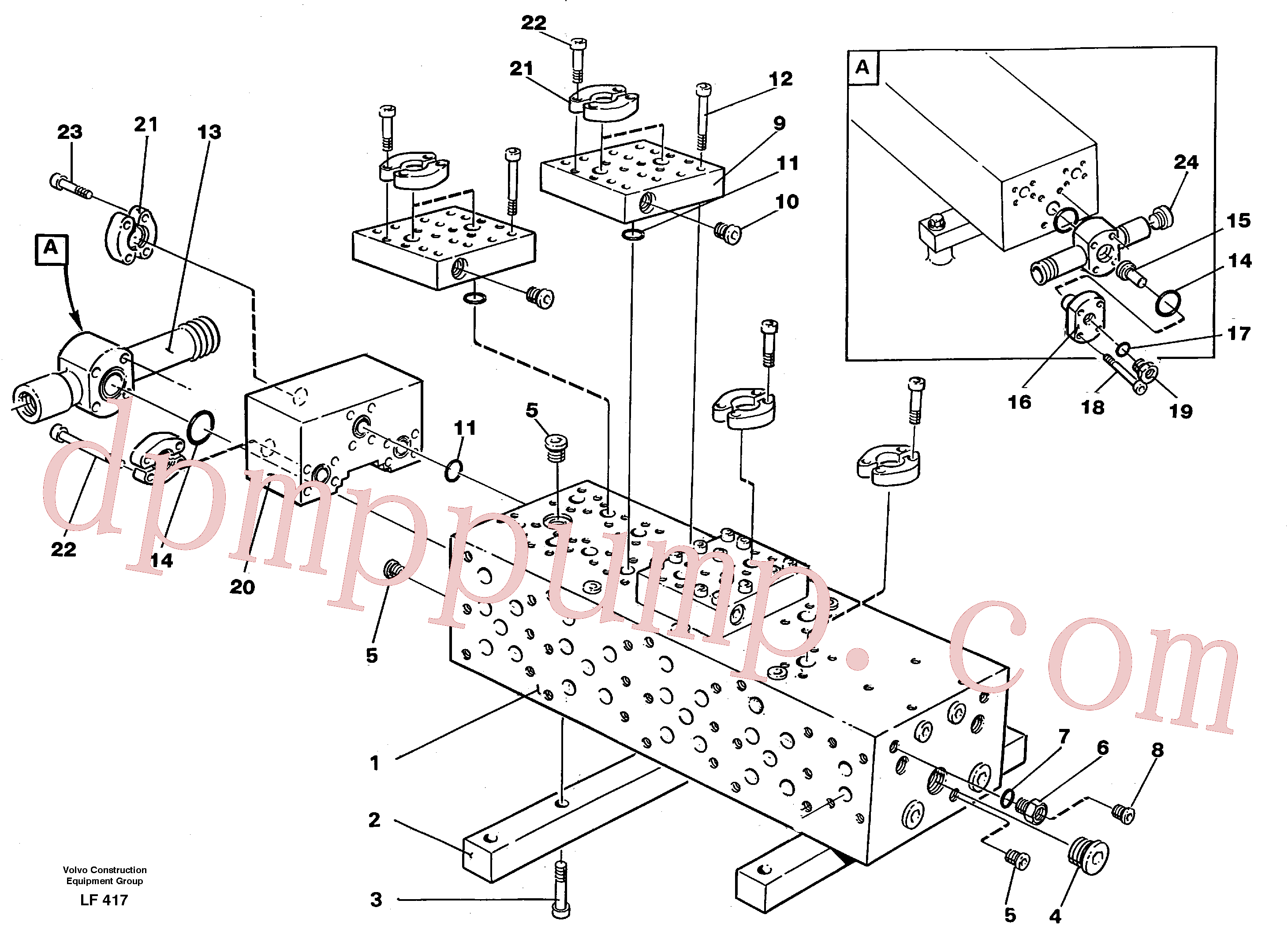VOE14231499 for Volvo Main valve block(LF417 assembly)