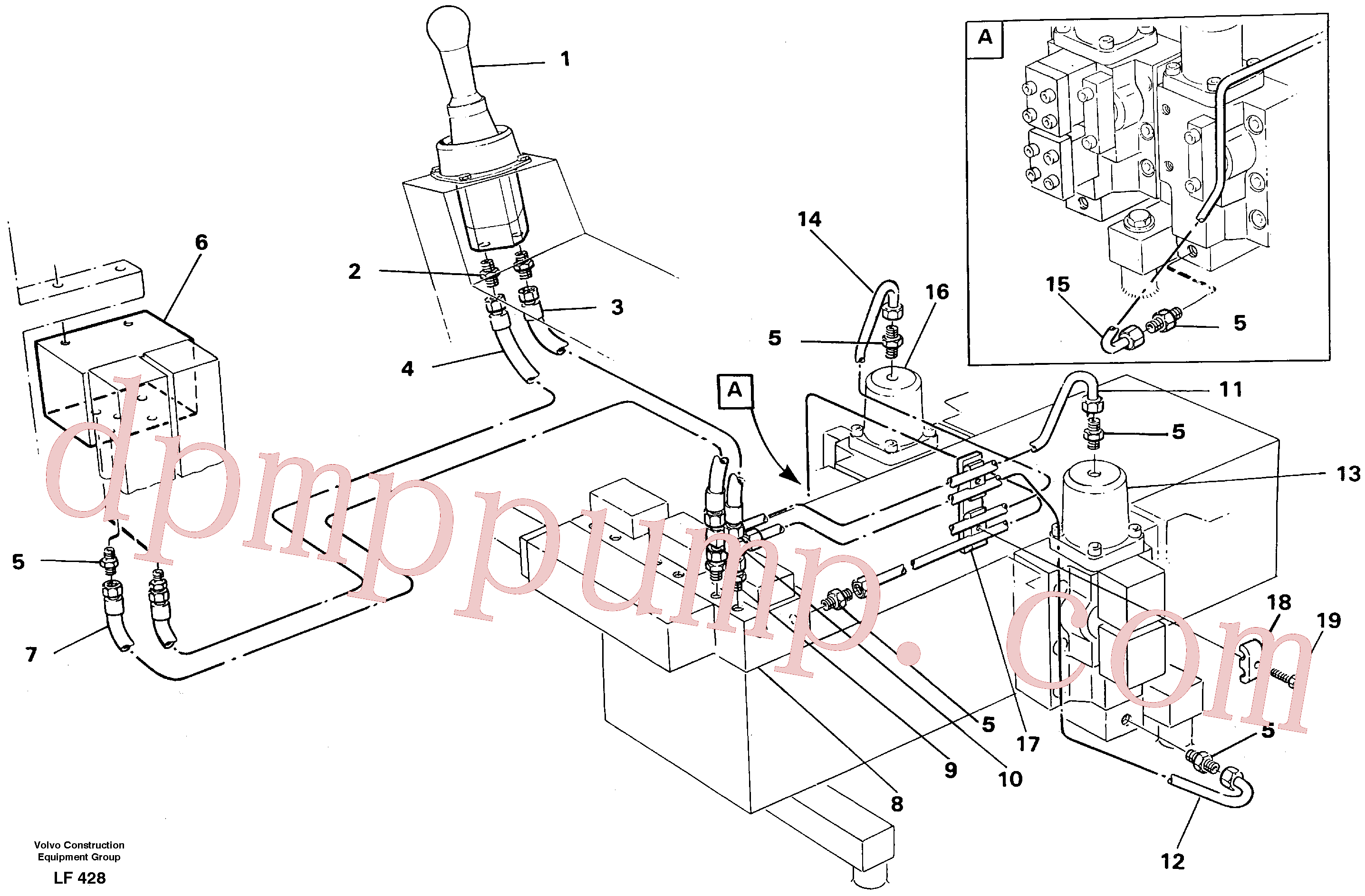 VOE14232258 for Volvo Servo hydraulics, dipper arm(LF428 assembly)