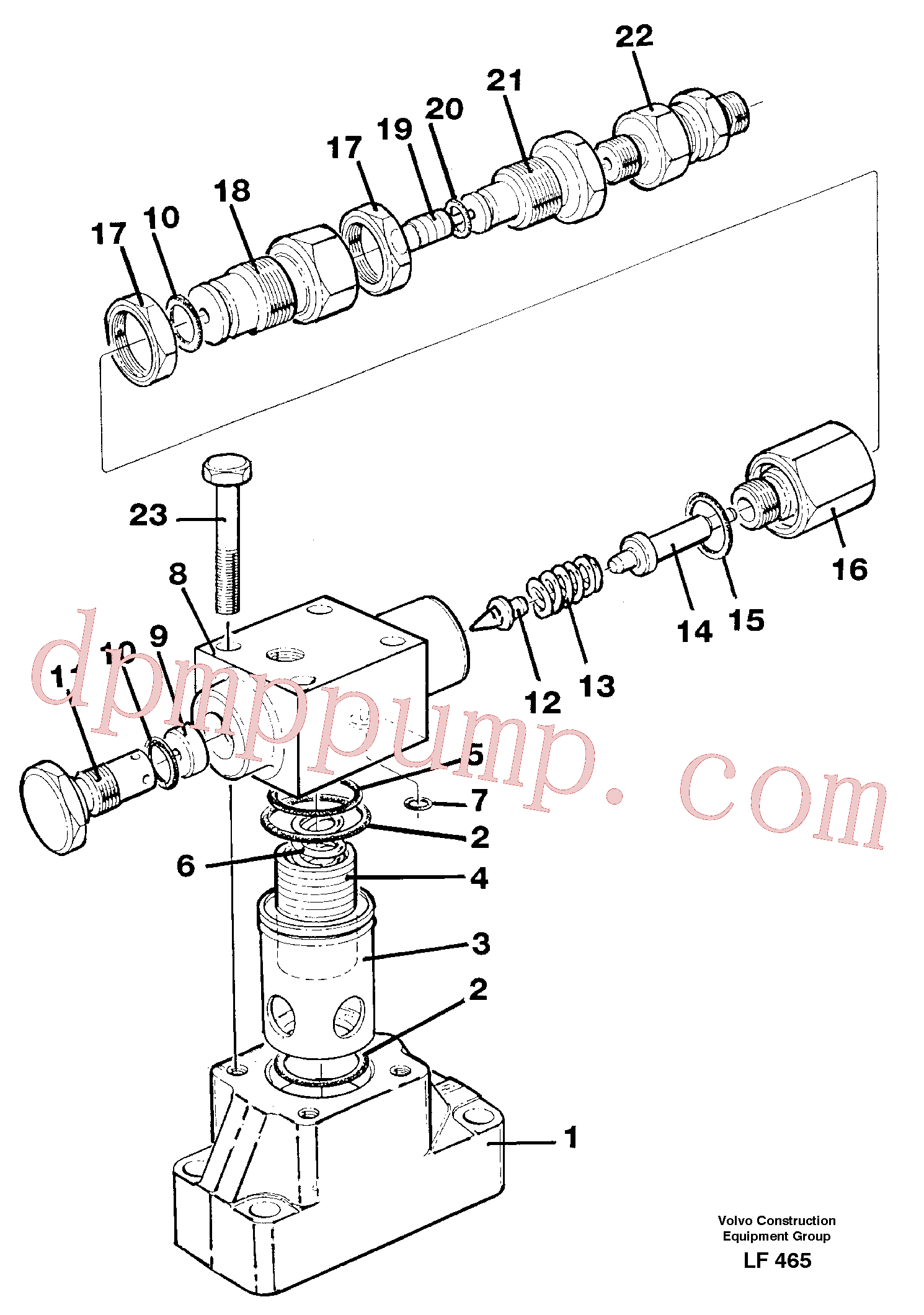 VOE14241443 for Volvo Pressure limiting valve(LF465 assembly)