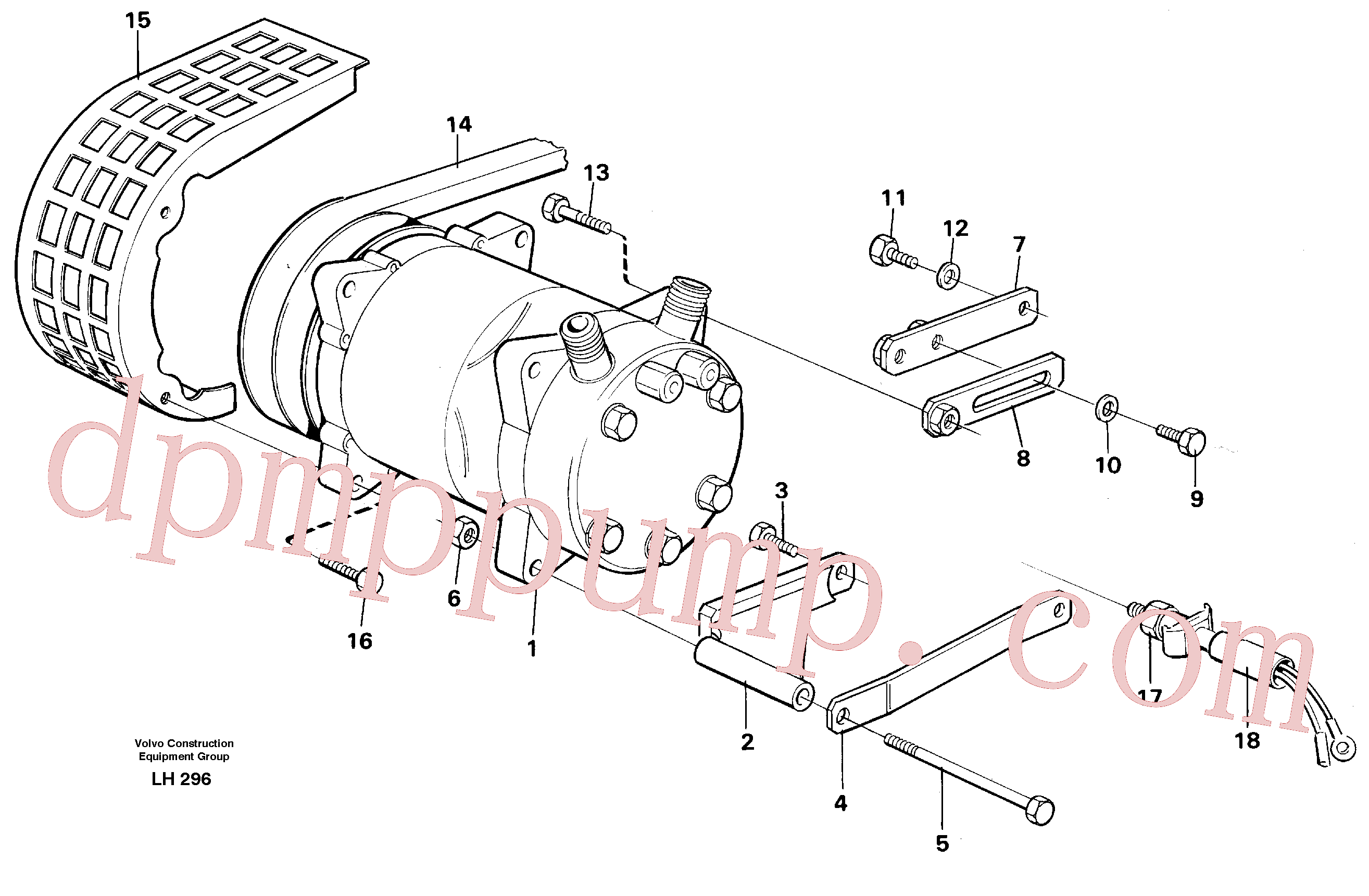 VOE14247400 for Volvo Compressor with fitting parts Cooling agent R12(LH296 assembly)