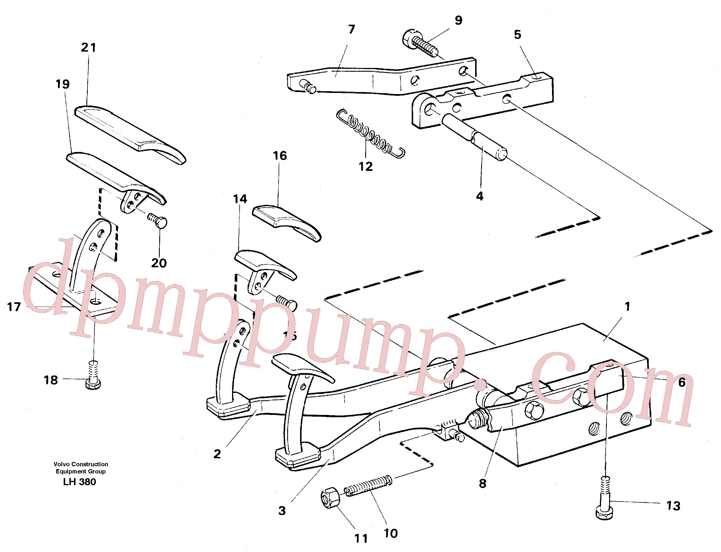 VOE14243546 for Volvo Pedal valve with foot rest(LH380 assembly)