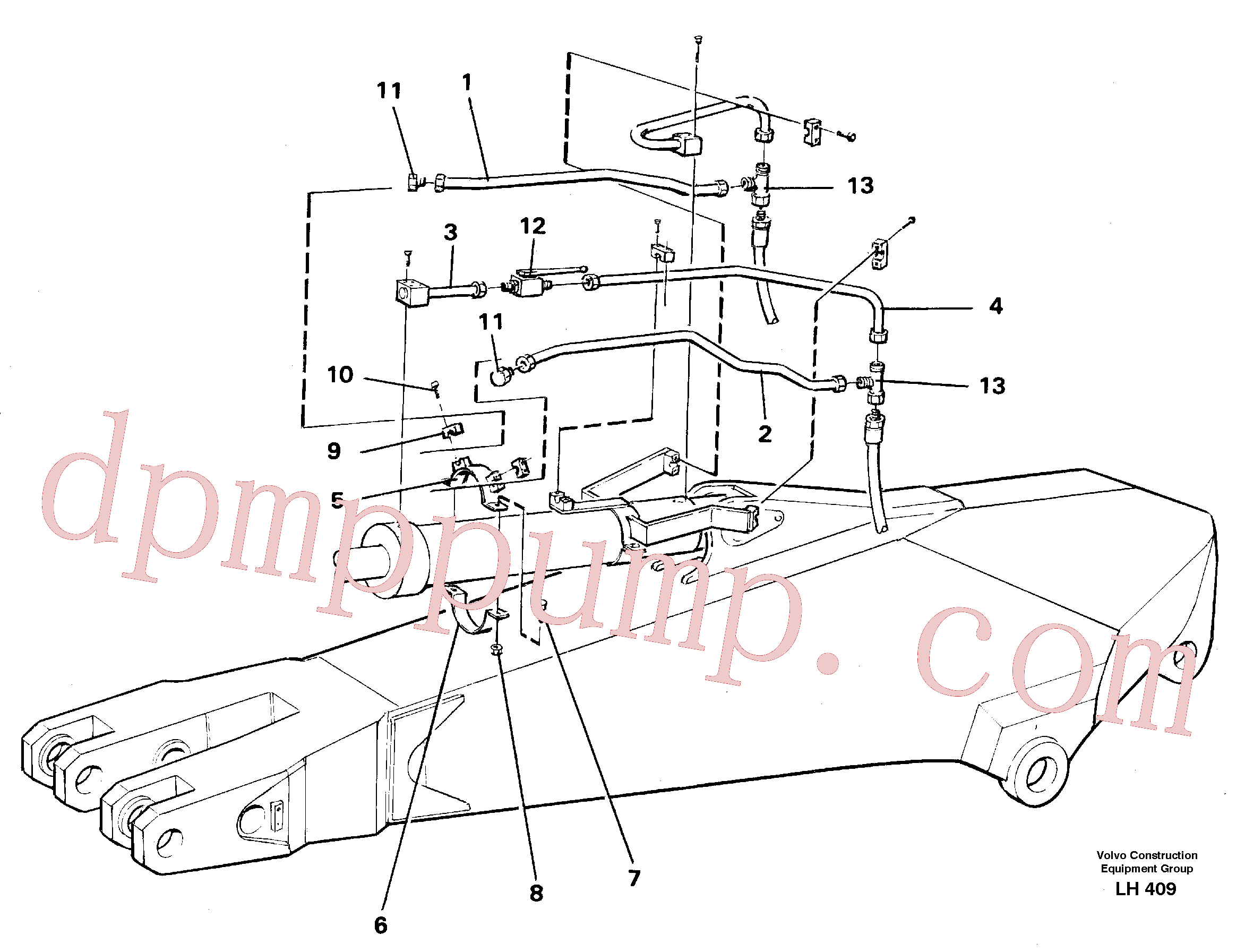 VOE14249978 for Volvo Parallel connected grab hydraulics on dipper arm(LH409 assembly)