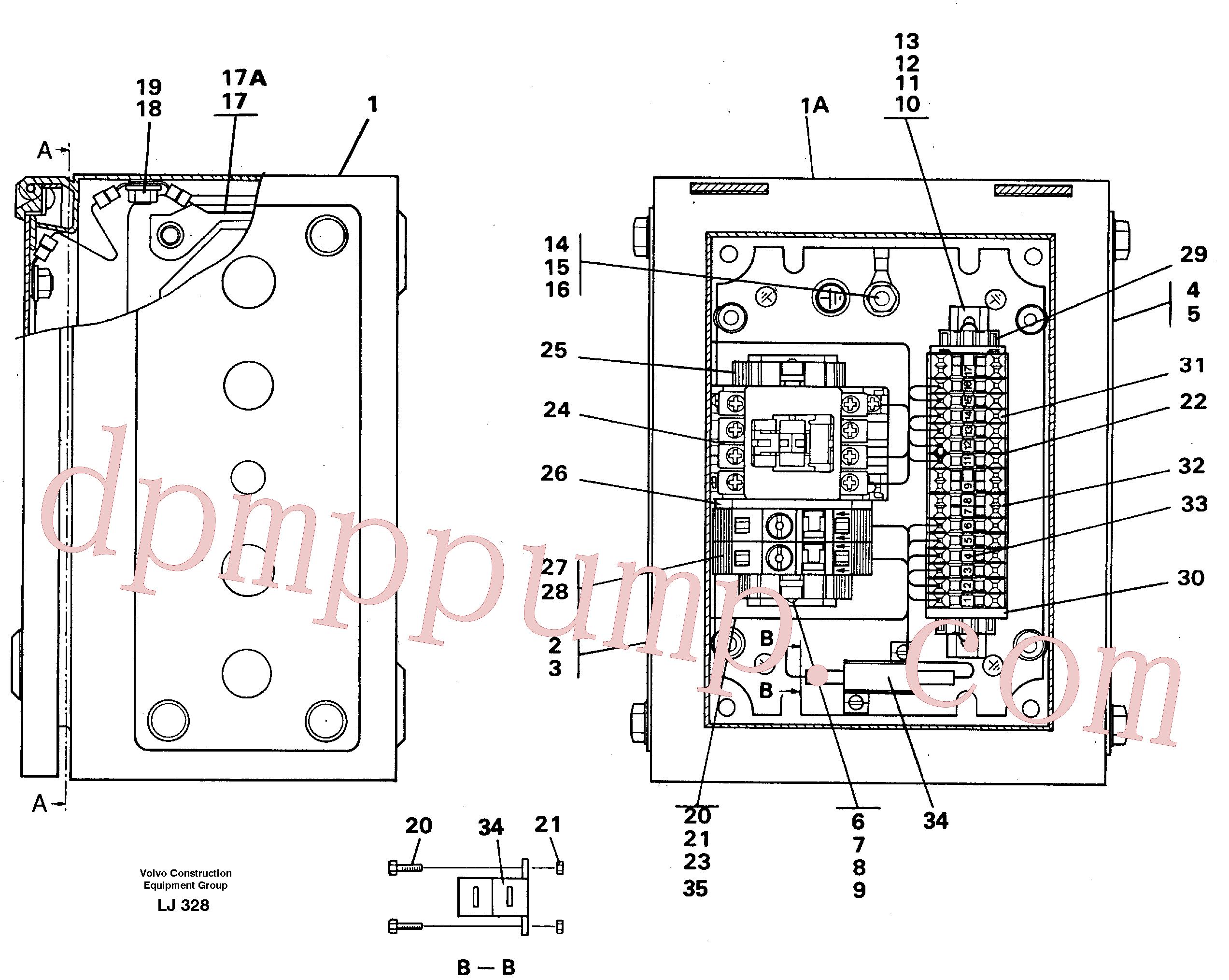 VOE14261692 for Volvo Magnet equipment Ohio, Electrical distribution unit(LJ328 assembly)