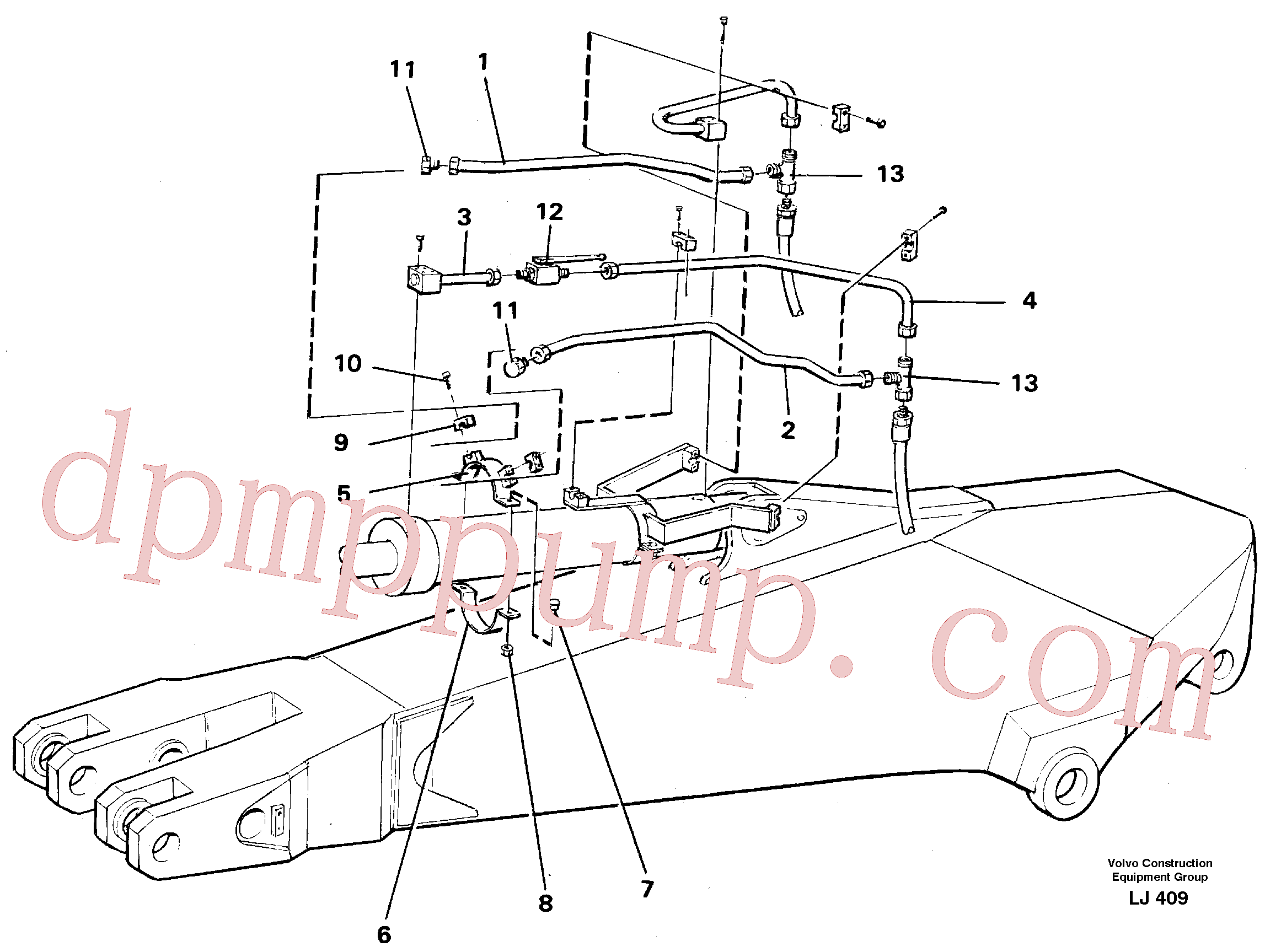 VOE14249978 for Volvo Parallel connected grab hydraulics on dipper arm.(LJ409 assembly)