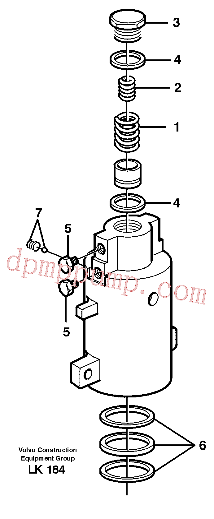 VOE11706814 for Volvo Axle locking cylinder(LK184 assembly)