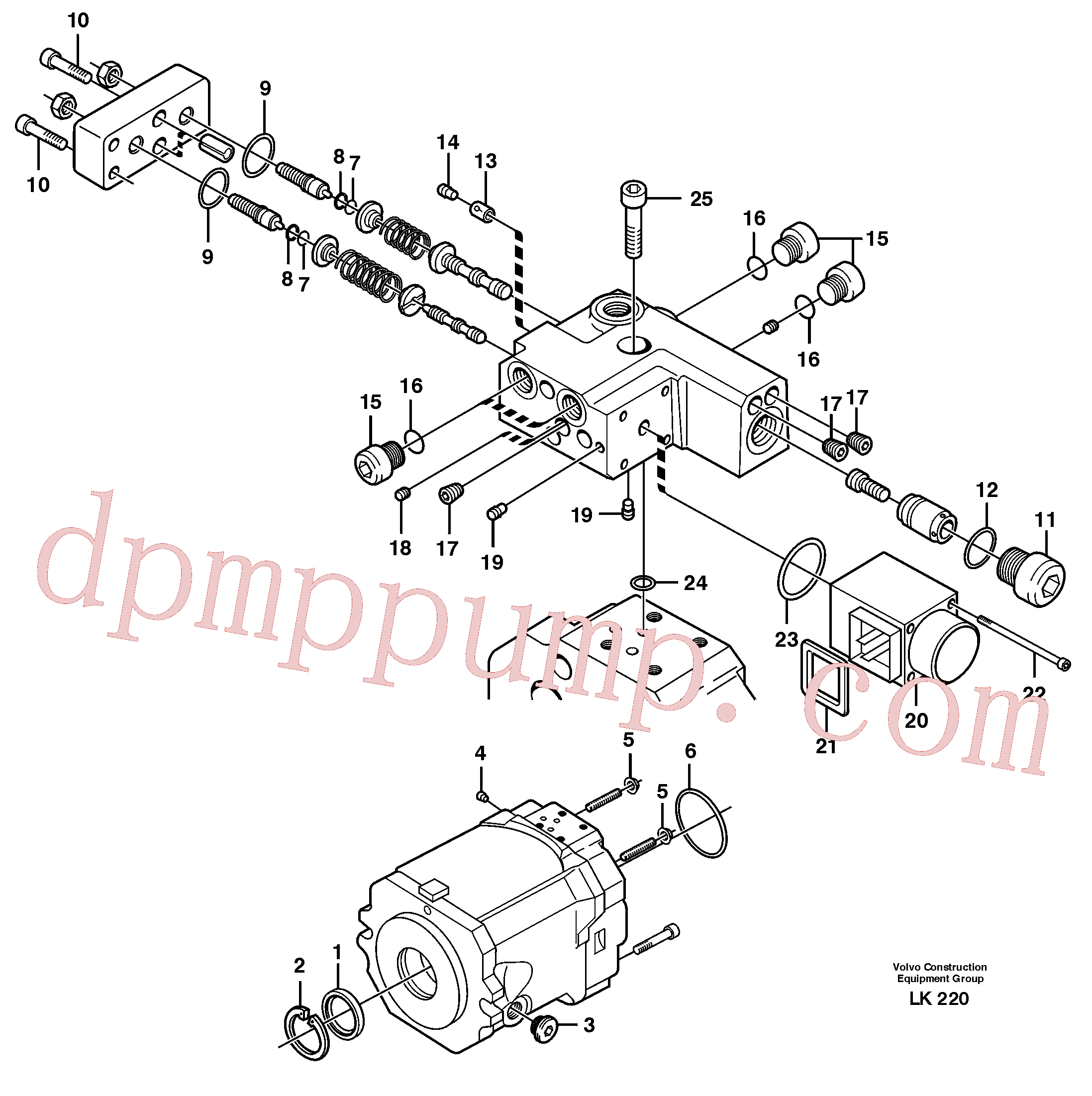 VOE11705607 for Volvo Hydraulic pump(LK220 assembly)