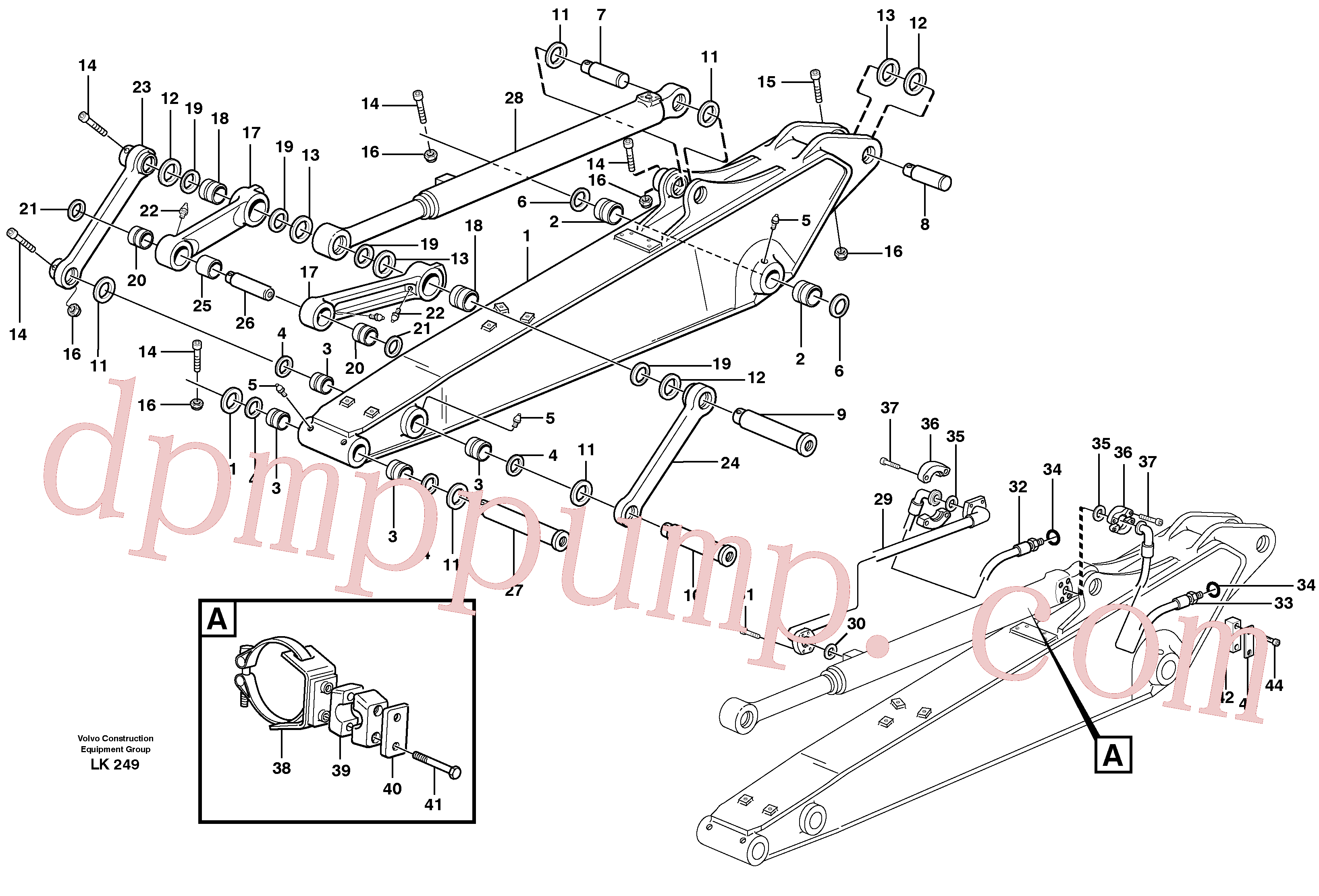 VOE14373277 for Volvo Dipper arm incl. connect.(LK249A assembly)