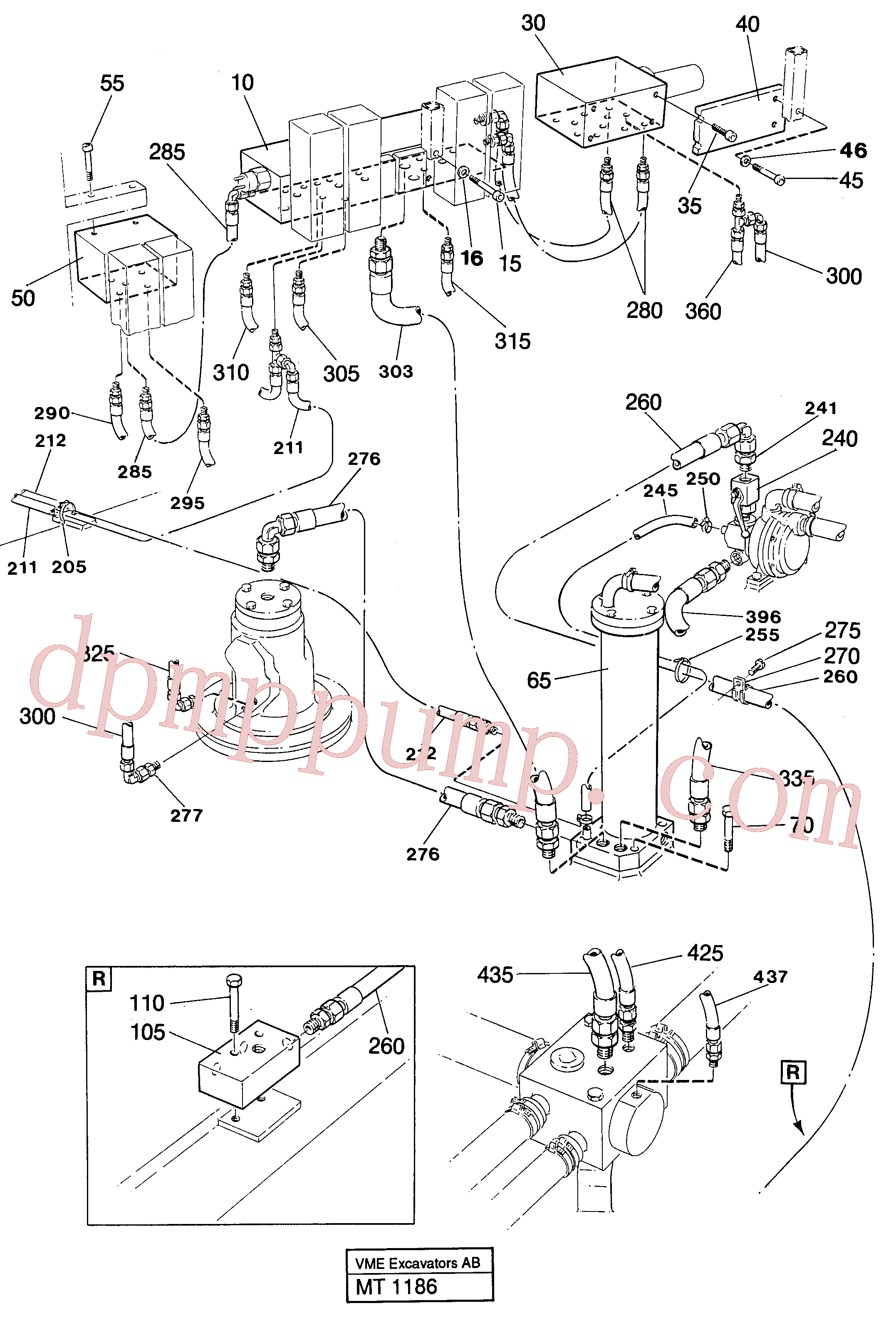 VOE14232258 for Volvo Lines in valve compartment(MT1186 assembly)