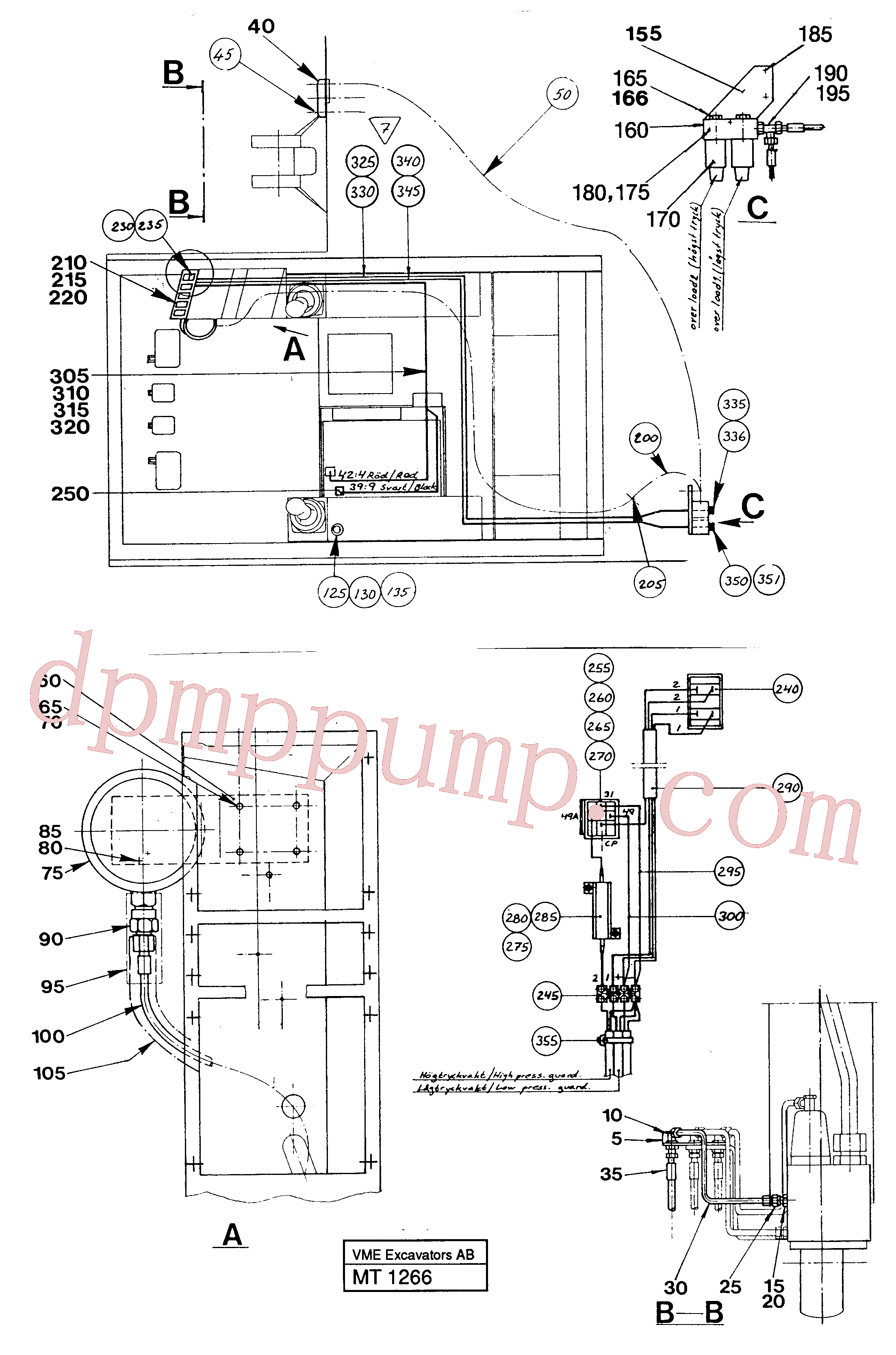 VOE14048861 Fitting for Volvo Excavator Parts