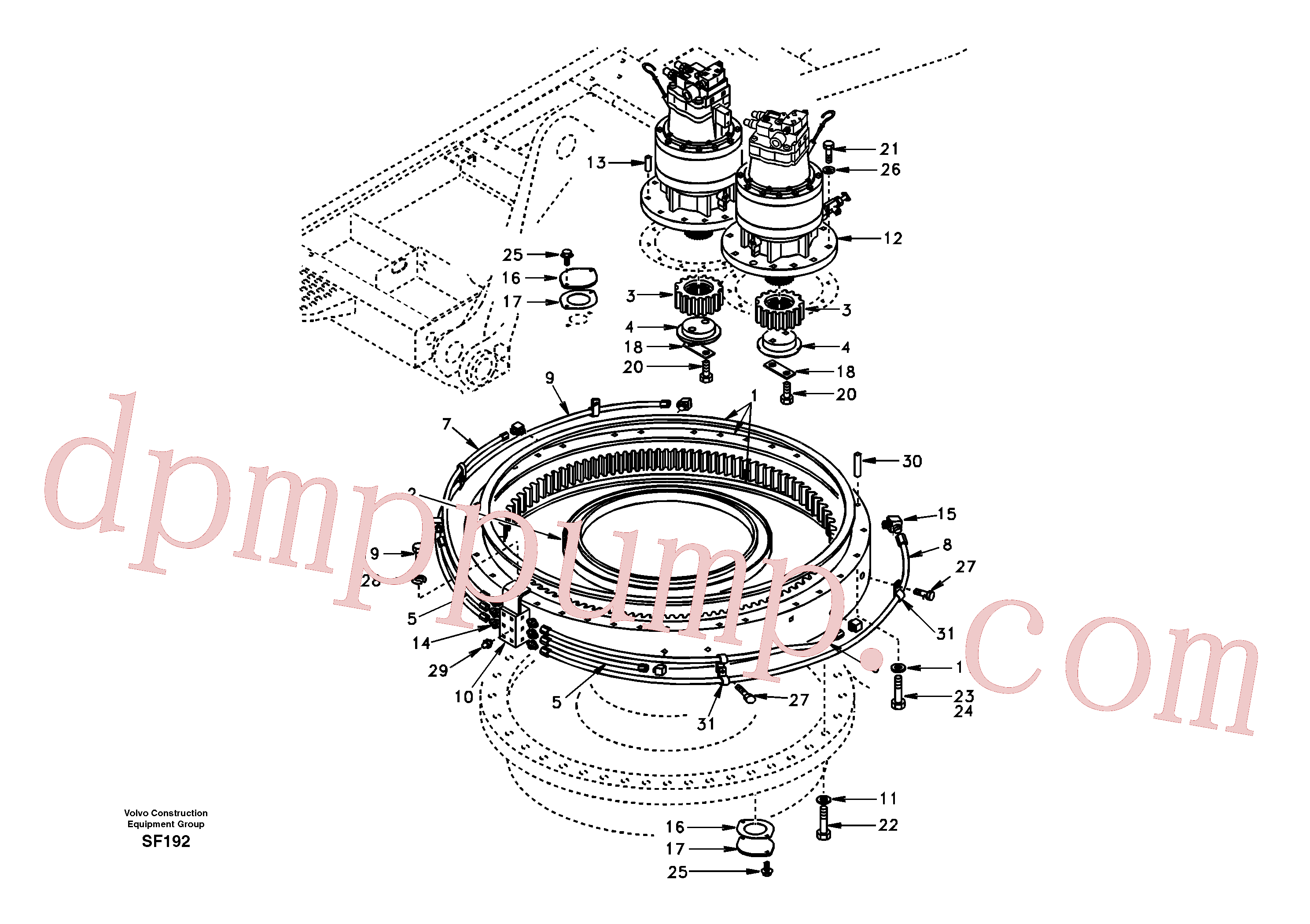 SA1155-01230 for Volvo Swing system(SF192 assembly)