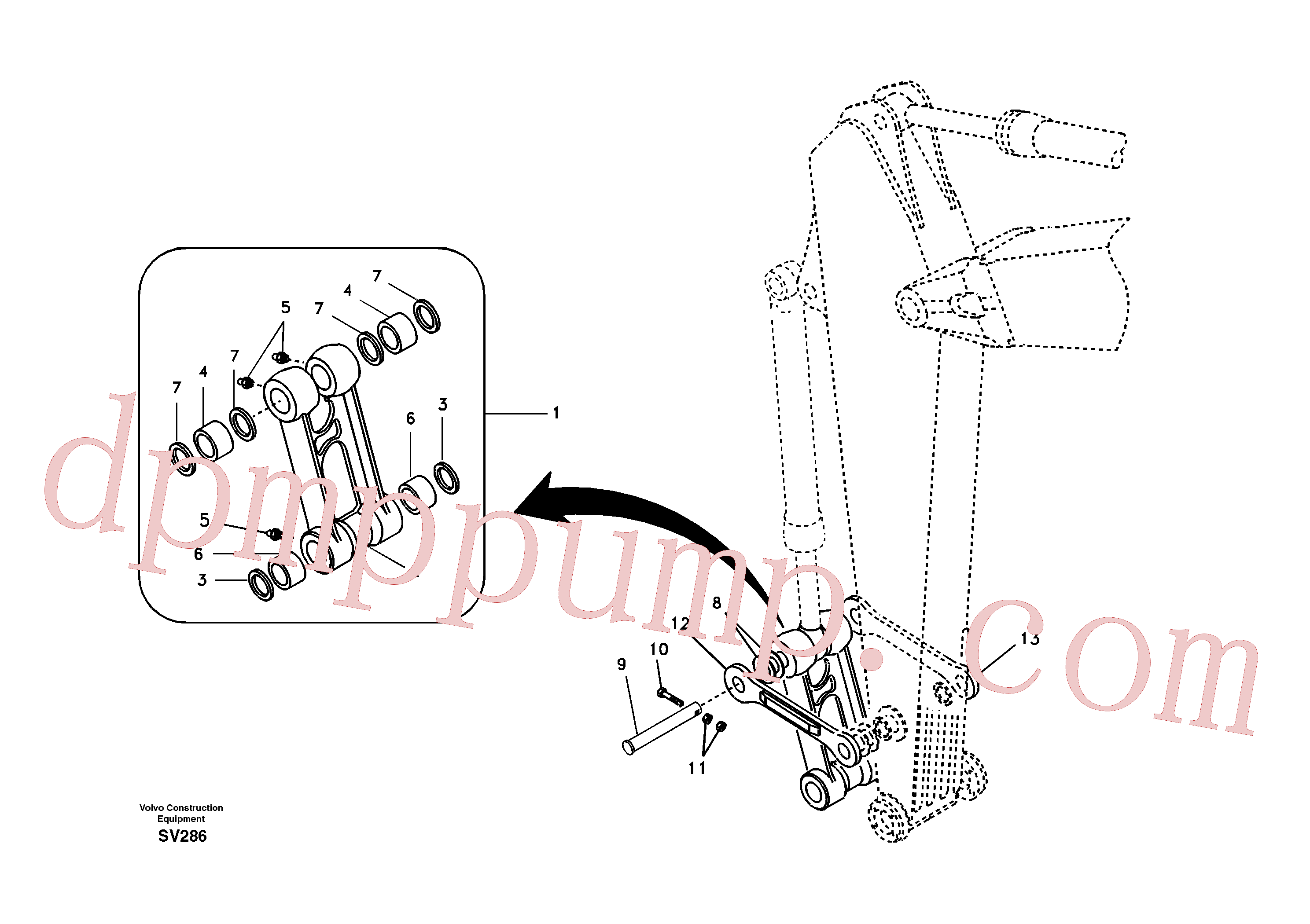 VOE14597637 for Volvo Links to connecting rod(SV286 assembly)