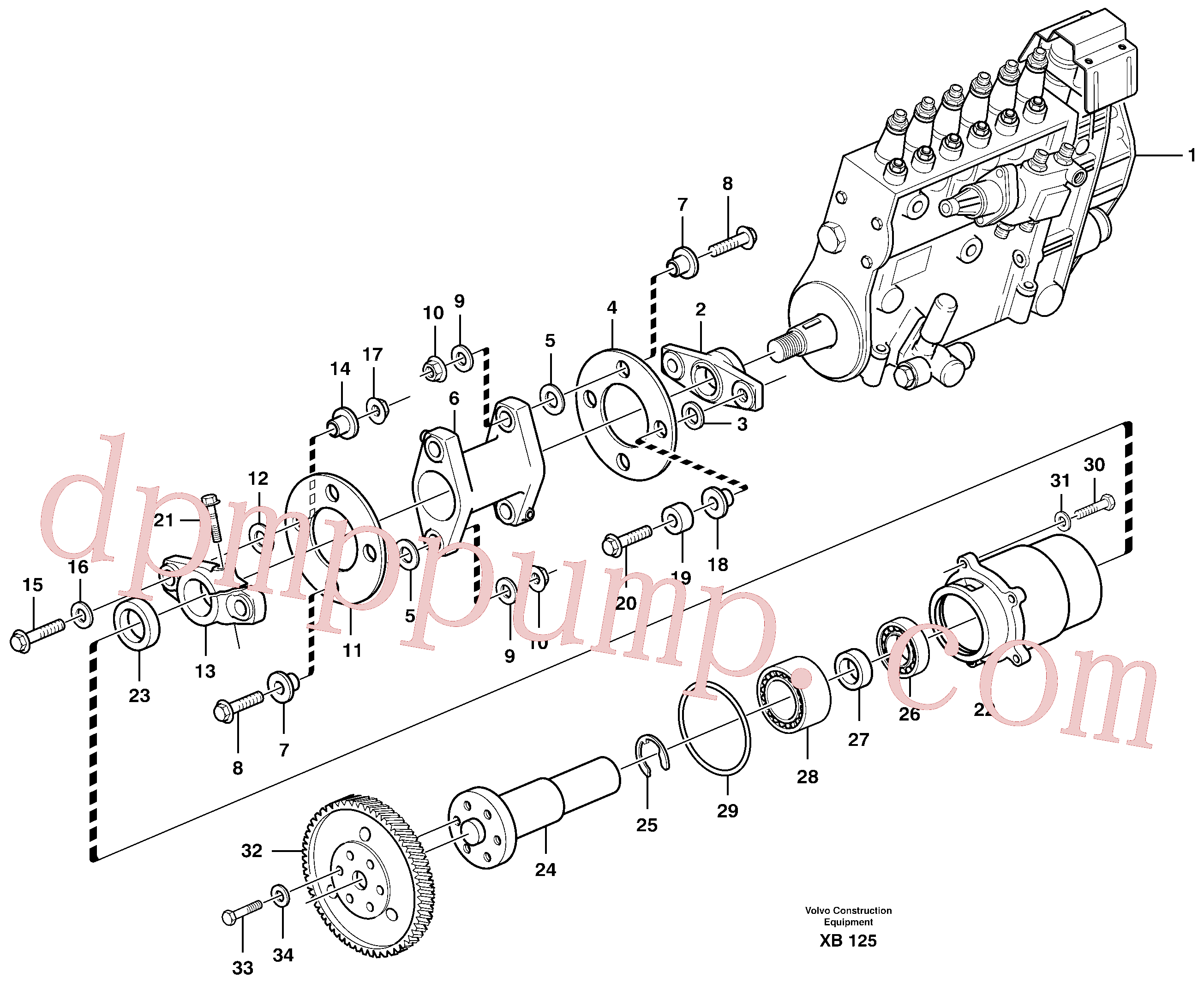 VOE914540 for Volvo Pump drive(XB125 assembly)